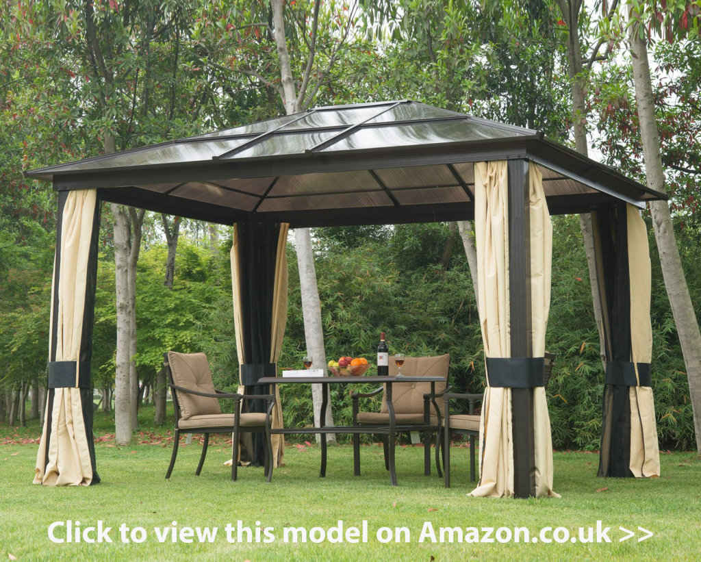 polycarbonate roof gazebo review buying guide hardtop gazebos garden rooms pinterest. Black Bedroom Furniture Sets. Home Design Ideas