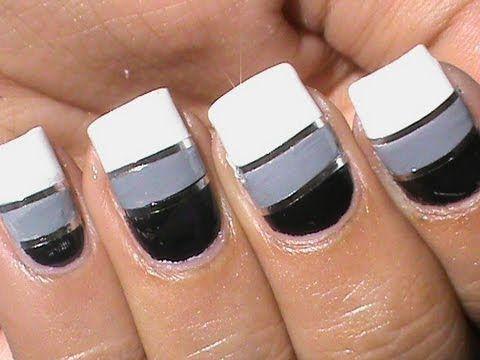 Striping Tape Nail Art Tutorial How To Do Nail Striping Stripe Nails