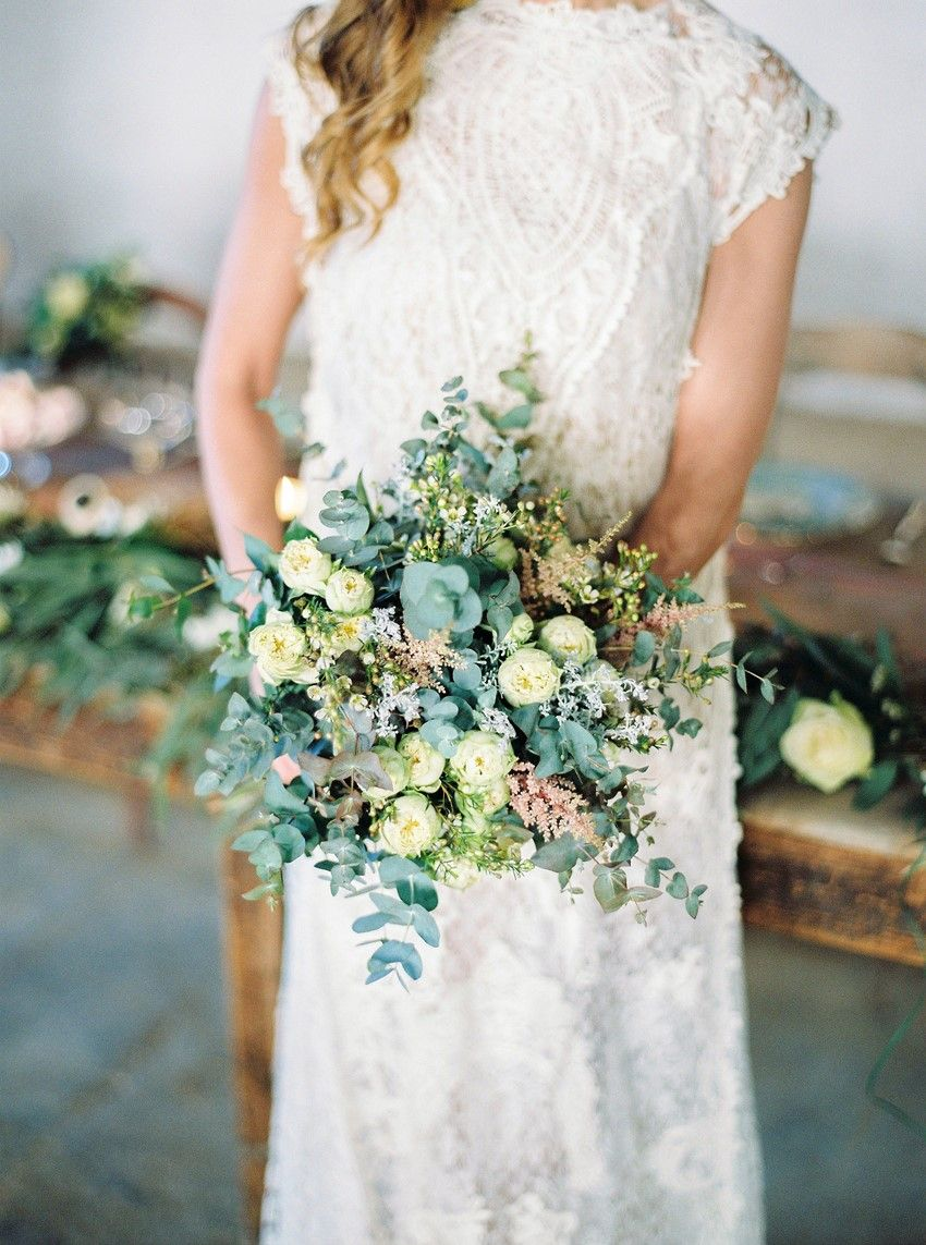 Greenery filled rustic vintage wedding inspiration from greece
