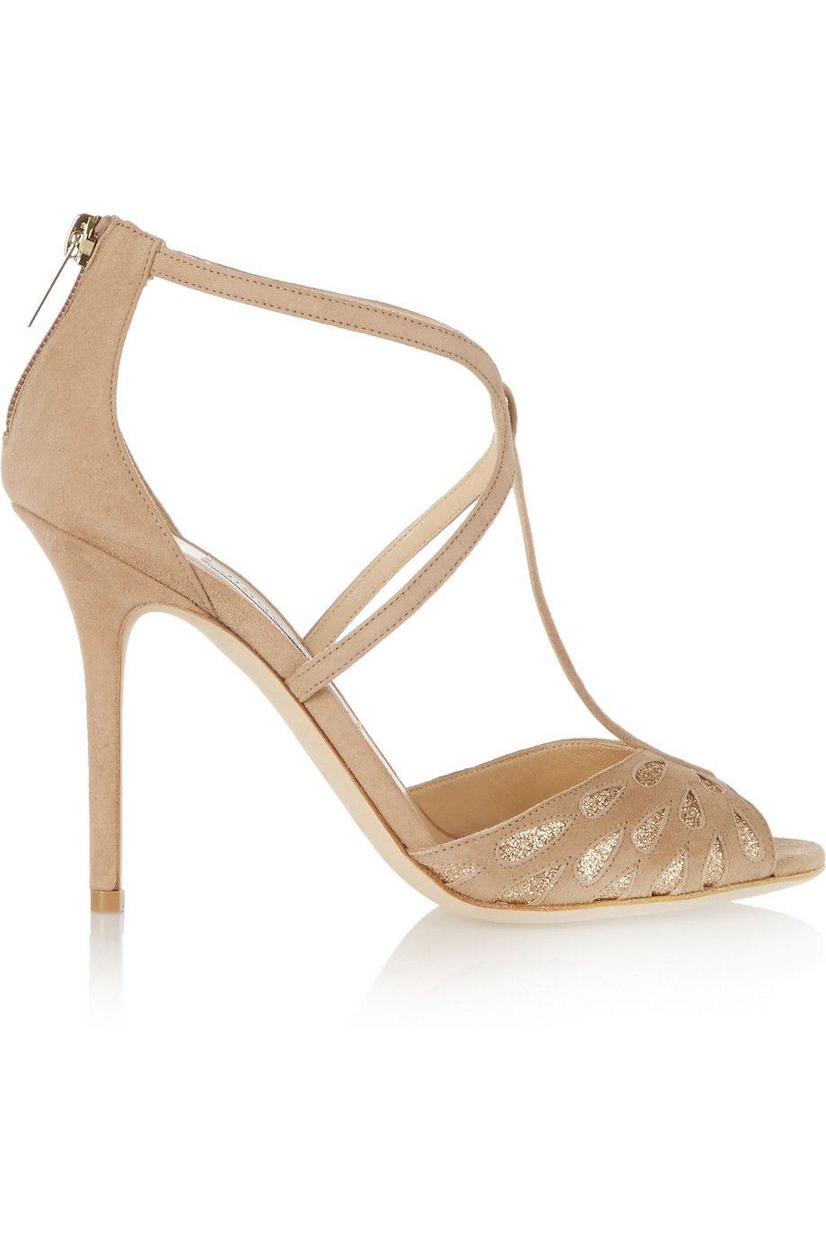 537629c31ddb Jimmy Choo - Dida glitter-embellished suede sandals
