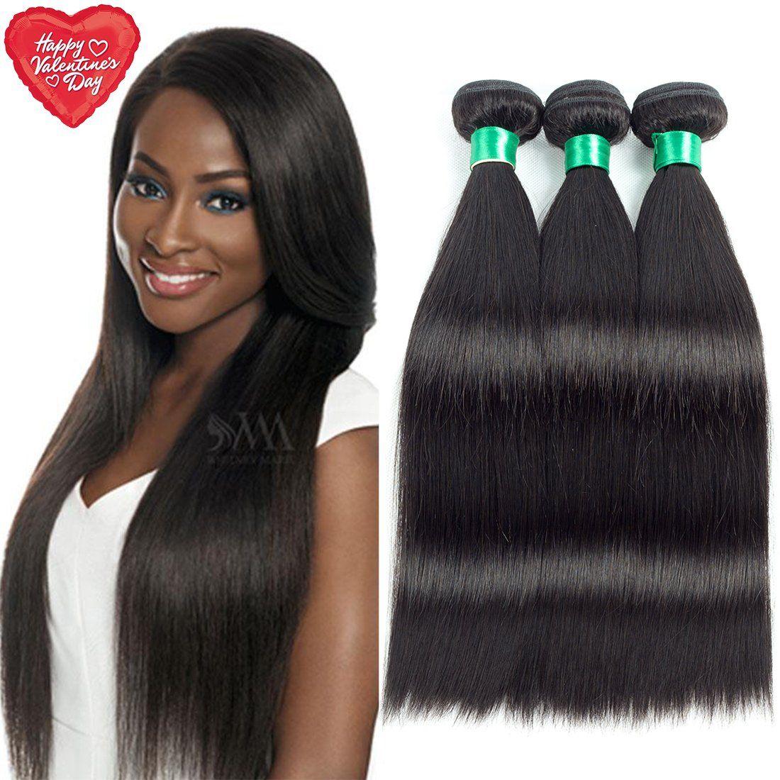 Mqyq Hair 8a Virgin Brazilian Straight Human Hair Extensions 16 18