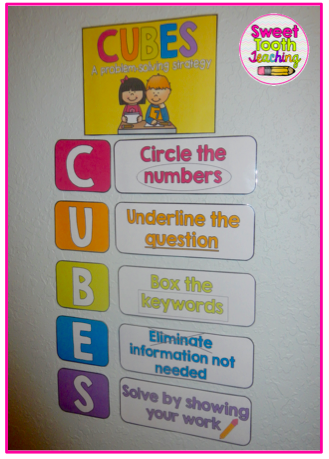 Cubes Problem Solving Strategy Poster Math Problem Solving