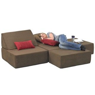 Comfortable Memory Foam Chair And The Ottoman Set Converts