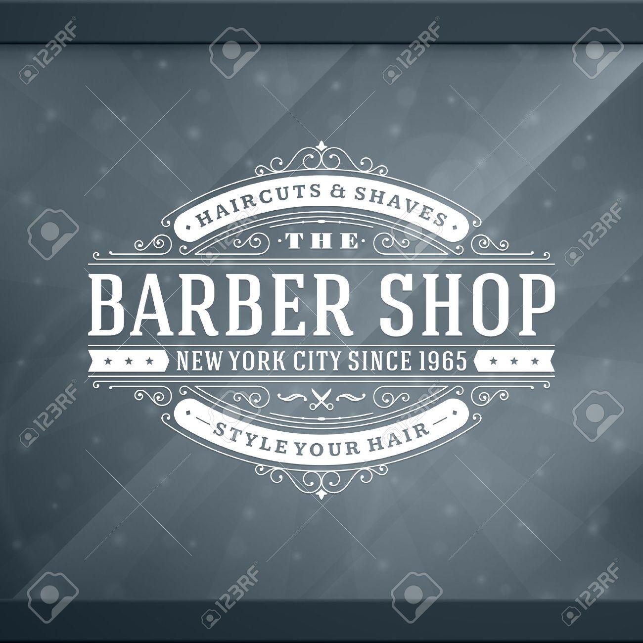 Old barber shop window - Barber Shop Logo Buscar Con Google