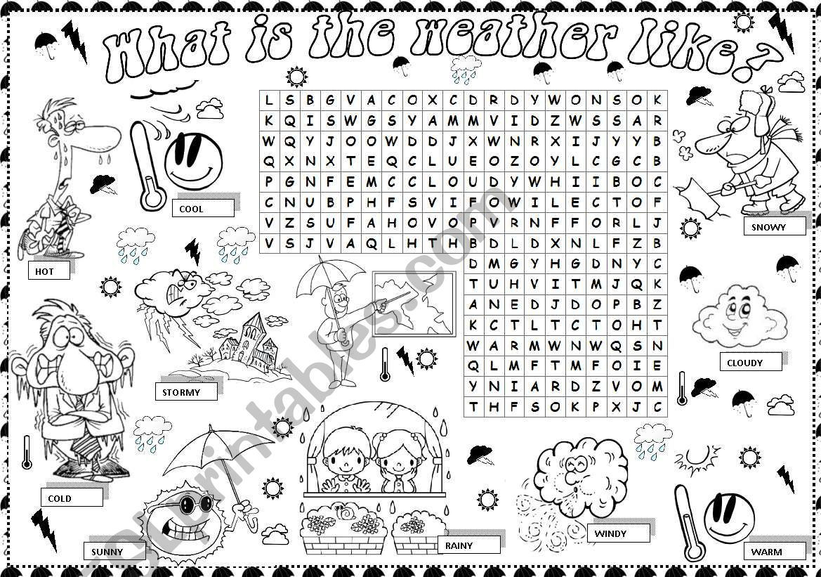What Is The Weather Like Worksheet