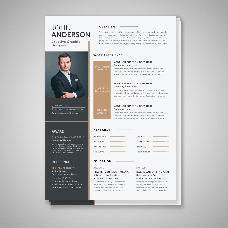 Make Professional Cv Resume And Portfolio Design For 10 Portfolio Design Professional Cv Resume Design Creative