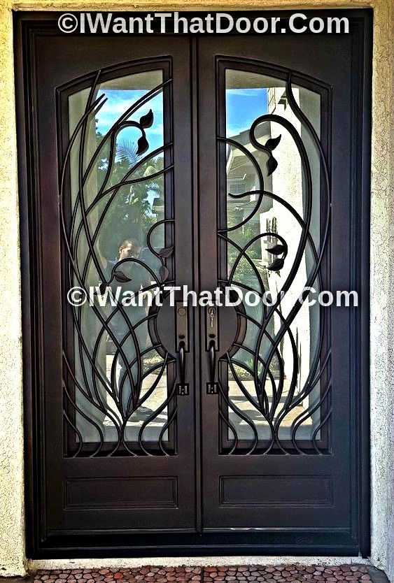 Vatican Wrought Iron Entry Double Door With Images Wrought
