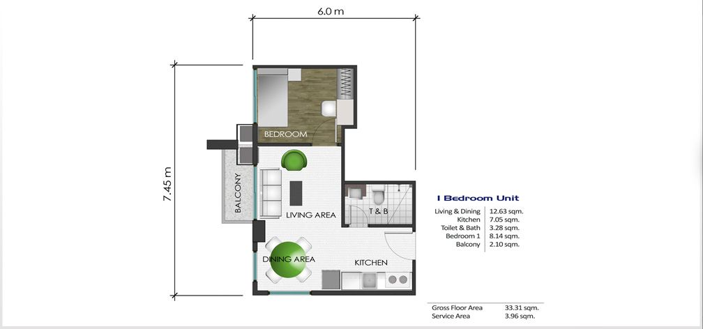 1 Bedroom Unit Layout Interior Deco Interior Architecture Floor Plans