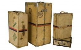 Vintage French Valise Group  jaysonhome.com