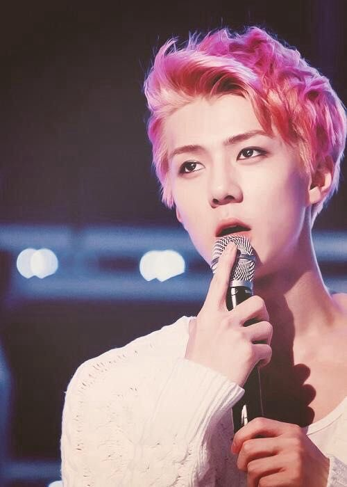 Guess That Male Kpop Idol Pink Hair Edition Kpop Hair Pink Hair Sehun