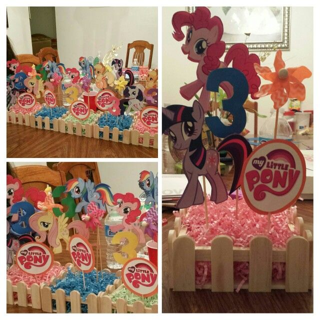 Diy My Little Pony Centerpieces Very Easy To Make Under 7