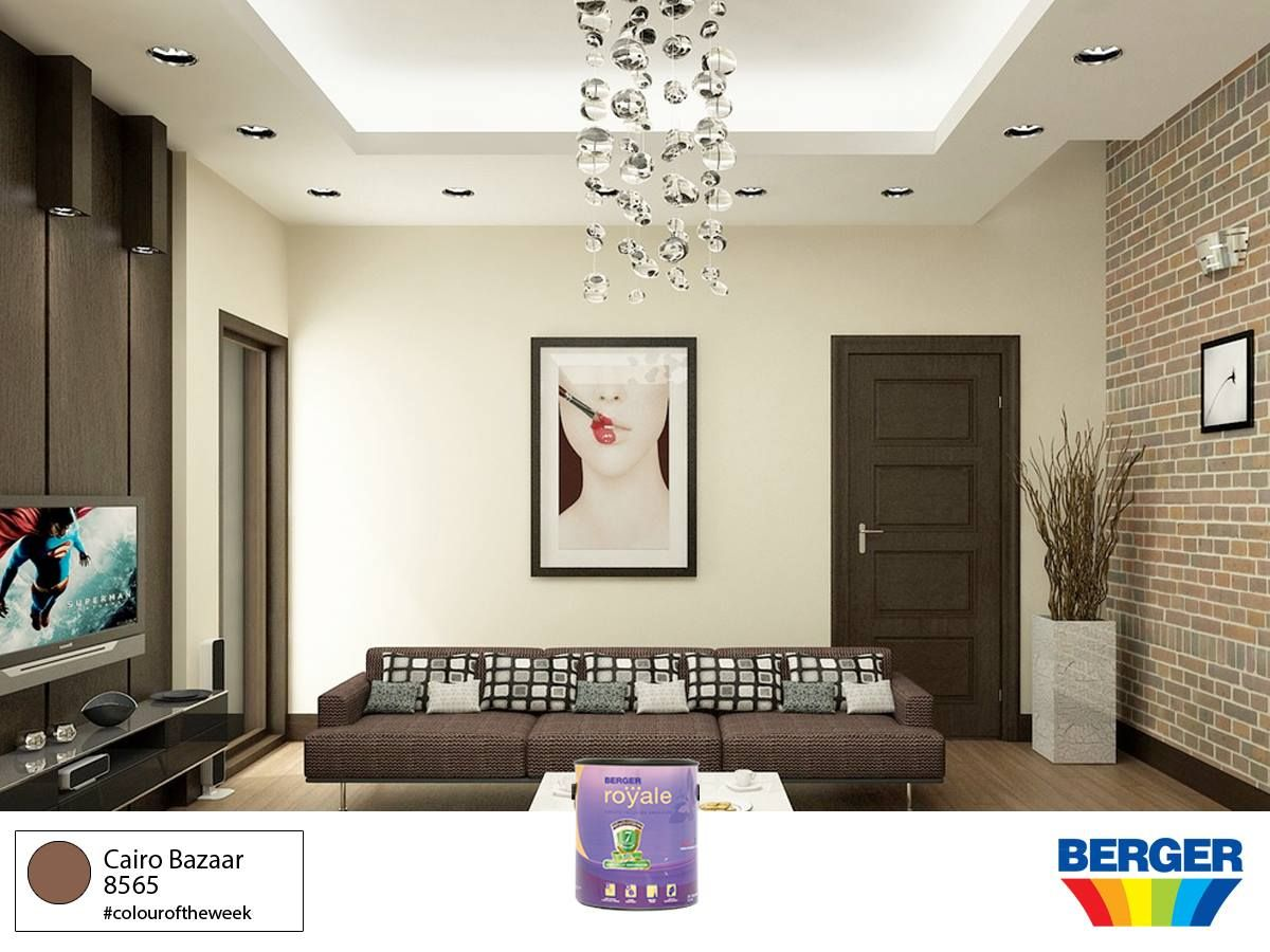 Feeling monochromatic try it with cairo bazaar 8565 of the berger paints caribbean spectra collection