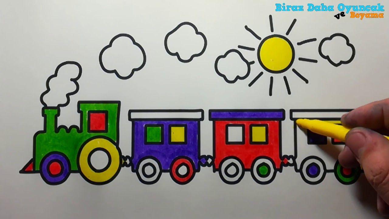Trenimizi Boyayip Renkleri Ogrendik En Guzel Boyama Videolari