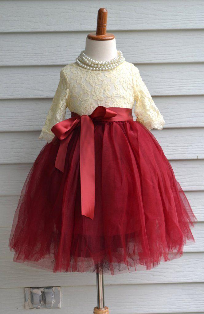 e17c552028b 60+ Red Flower Girl Dresses Ideas