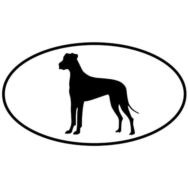 Great Dane Dog Inside The Circle Car Decal Great Dane Dogs Dog