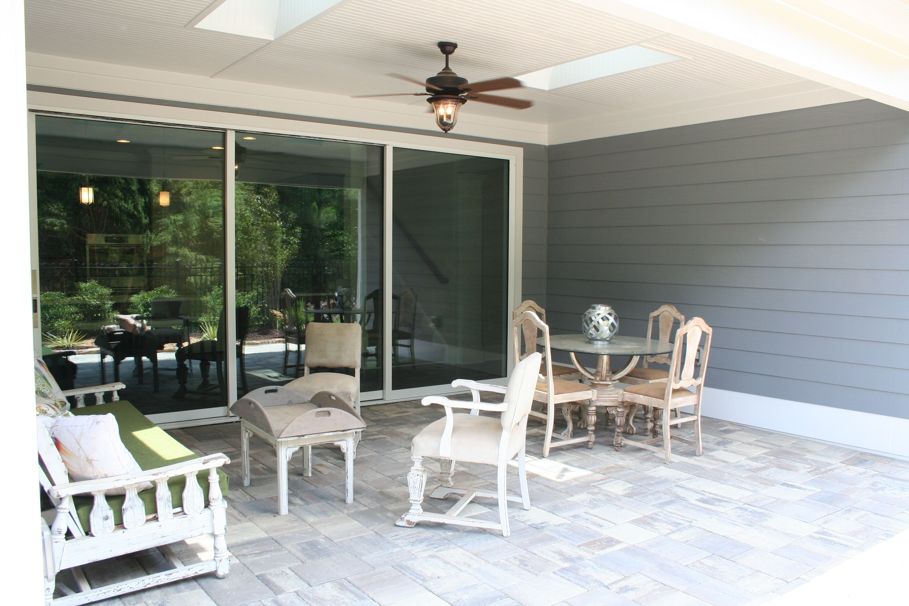 Patio Cover With Skylights And Ceiling Fans - Patio Covers