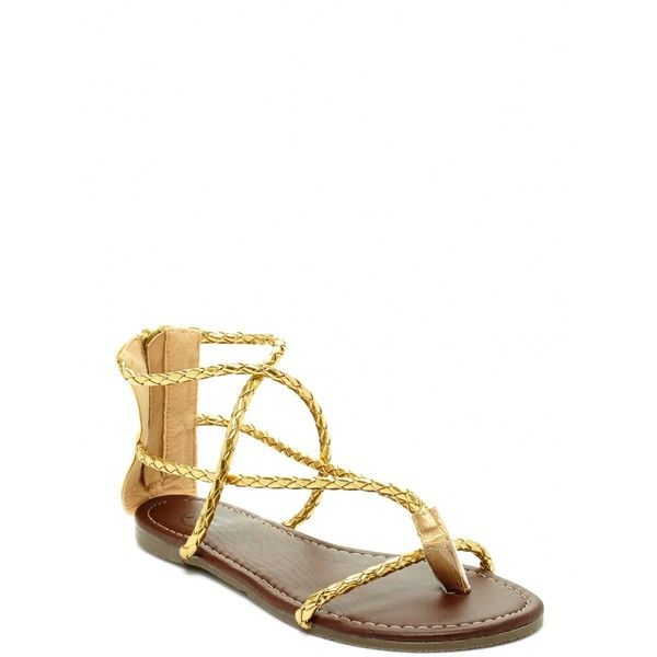 Carrini Braided Multi-Strap Thong Sandal $6