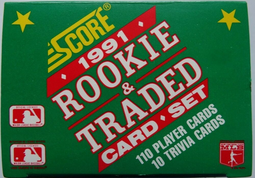 1991 score rookie traded team set baseball cards you u