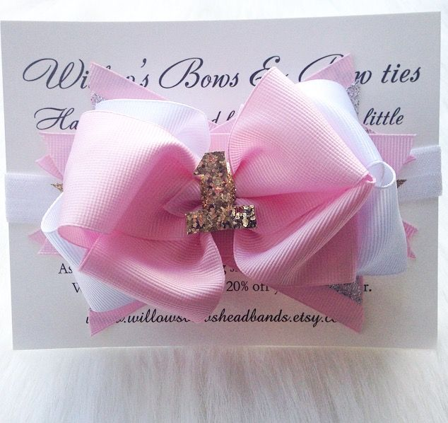 1st birthday bows