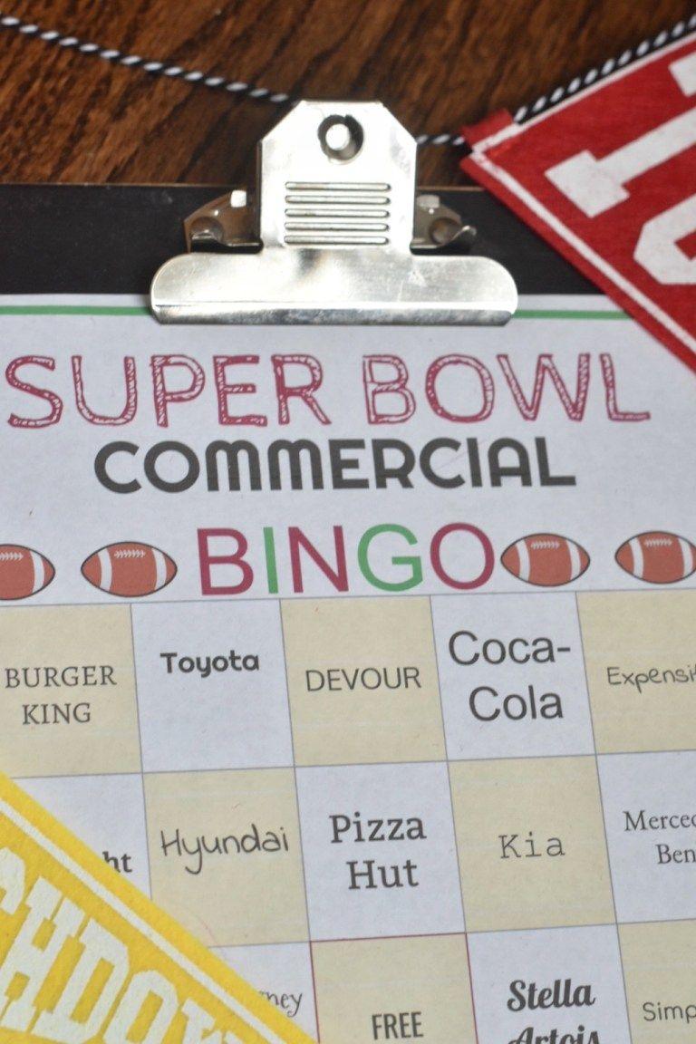 43++ Super bowl commercial bingo pdf inspirations