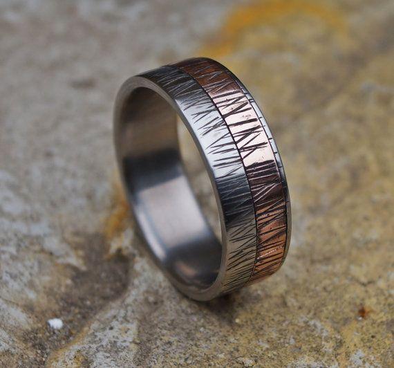 Ring Ring Kupfer Kupfer Ehering Männer Ring Kupfer von RingsDepot