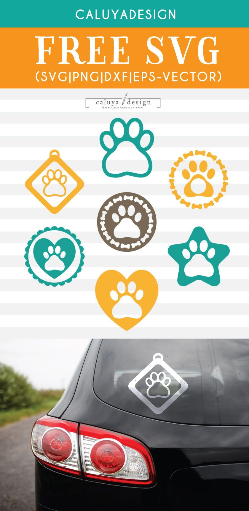 Free Dog Paw Svg Png Eps Dxf By Caluya Design Cricut Svg Monogram Svg