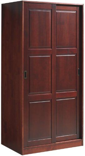 100% Solid Wood 2-Sliding Door Wardrobe/Armoire/Closet by ...