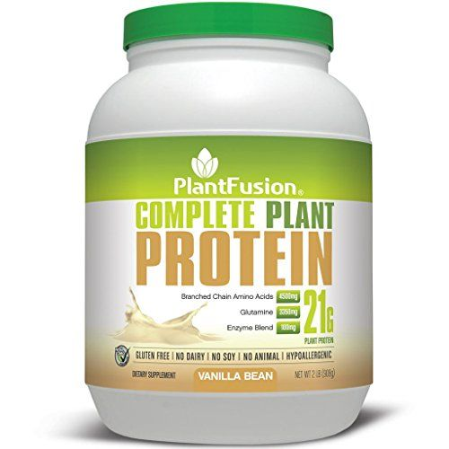 Plantfusion Complete 100 Plant Based Protein Powder Vanilla Bean 30 Servings 21g Protein Complete Plant Proteins Plant Protein Plant Based Protein Powder