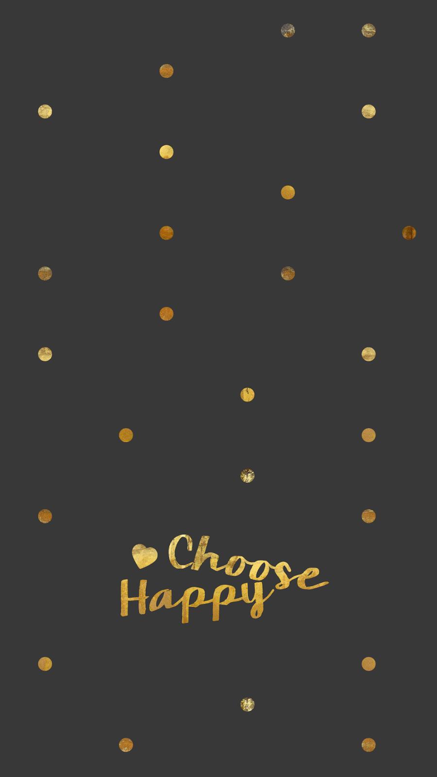 Merveilleux Wallpaper, Background, Hd, Iphone, Gold, Confetti, Black, Choose Happy