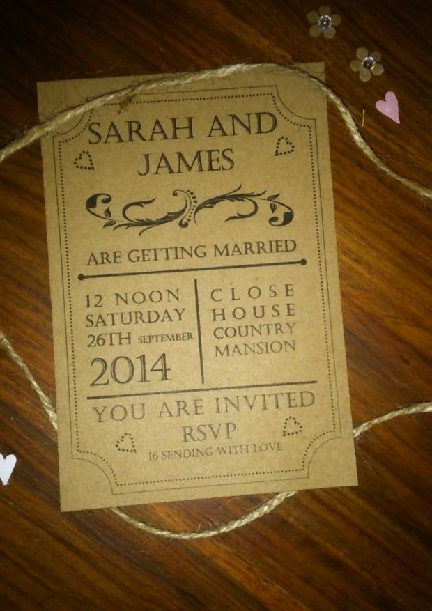 Save The Date / Wedding/Thank you Cards & Envelopes x 50