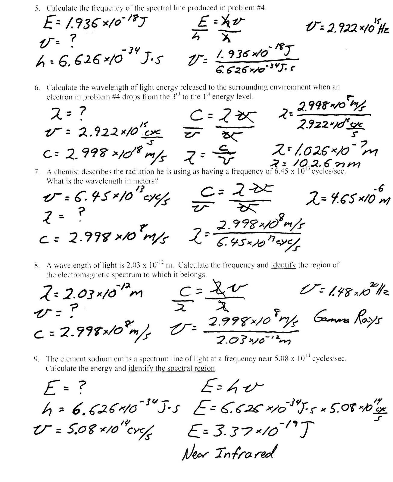 worksheet Models Of The Atom Worksheet Answers heritage high school honors physical science light worksheet collection of bohr model worksheets bluegreenish