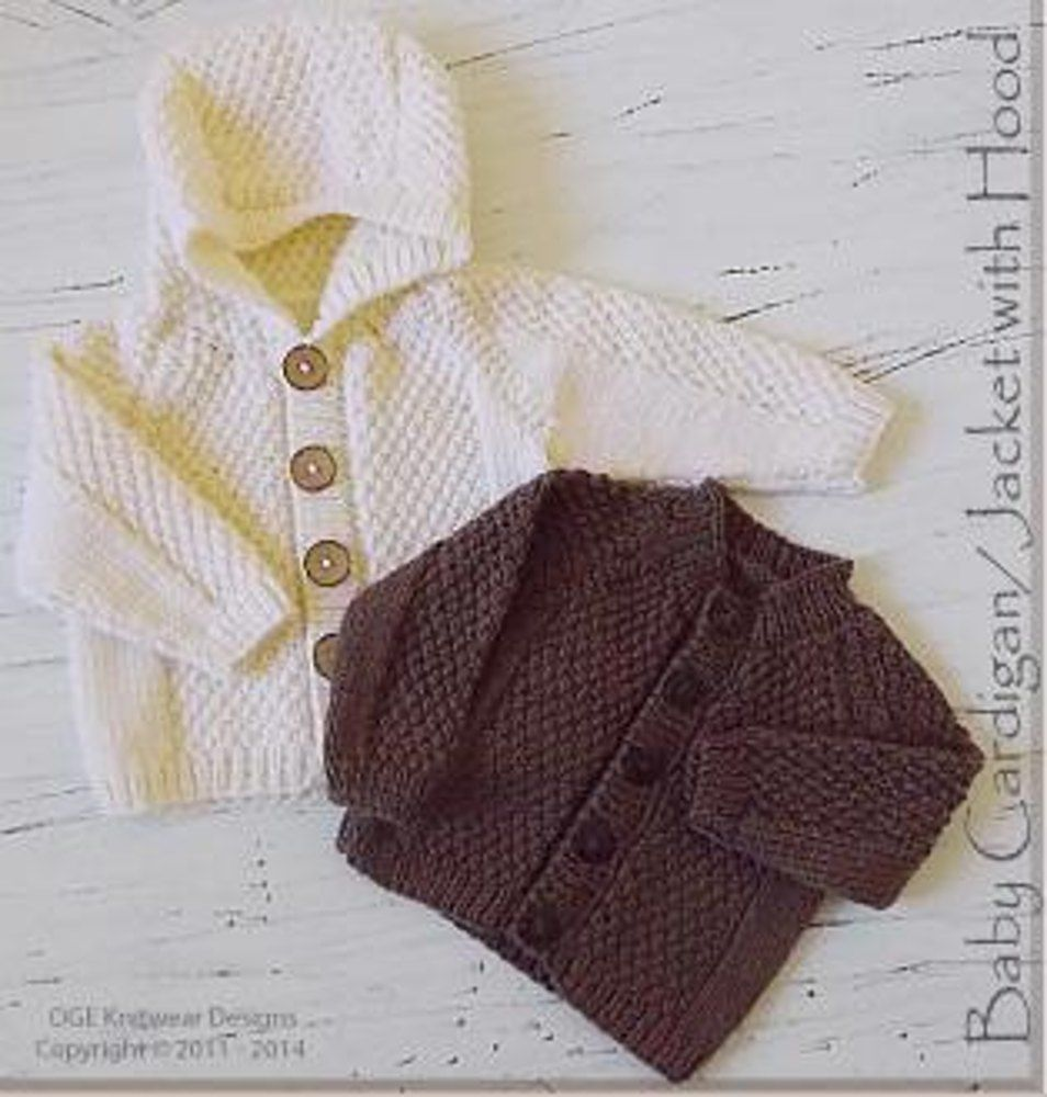 Baby Cardigan with Hood Knitting pattern by OGE Knitwear ...