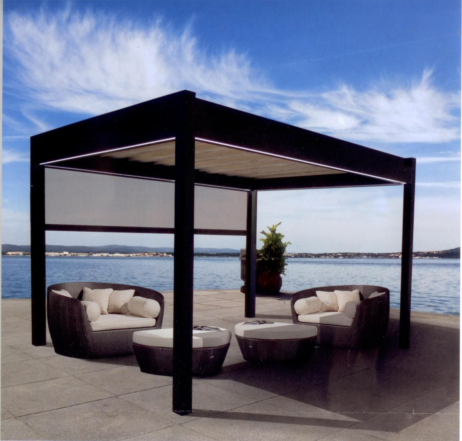 Enclose Your Outdoor Patio Living Area With Our Modern Pergolas