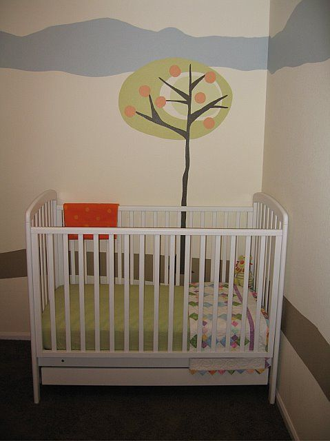 Our nursery when L was born. Now L and T's room.