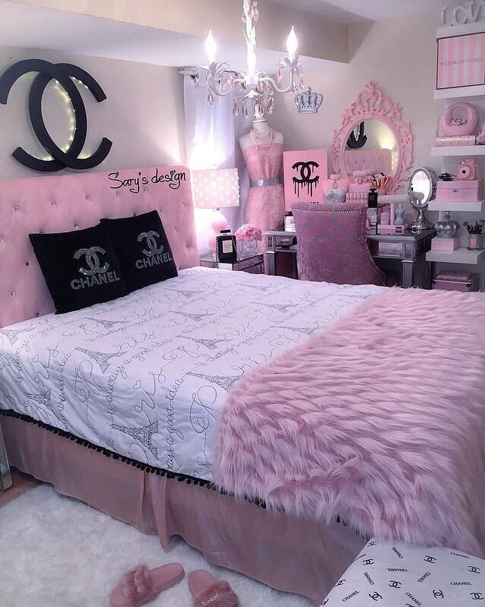 Chanel inspired bedroom (avec images)  Deco chambre coconing