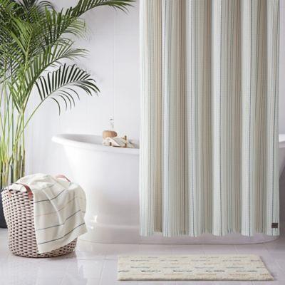 Ugg Skye Striped 54 X 78 Shower Curtain In Green Striped