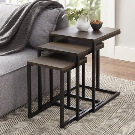 Better Homes And Gardens Rhodes Nesting Accent Tables Set Of 3 Table Nesting End Tables Home