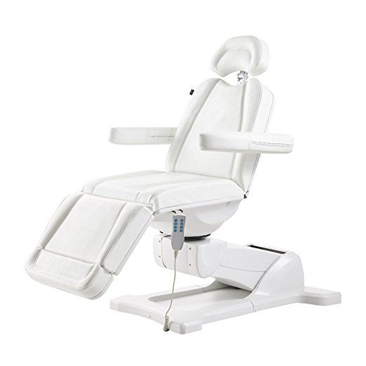 Beauty Full Electrical 4 Motor Podiatry Chair Facial Massage Dental Aesthetic Reclining Chair All Purpose Bed Pavo White Bed Linens Luxury Chair Dental