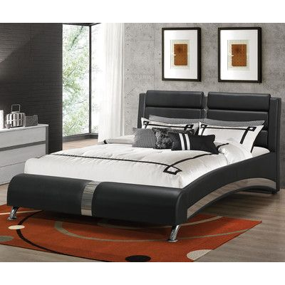 Wade Logan Mallory Upholstered Platform Bed Size: California King