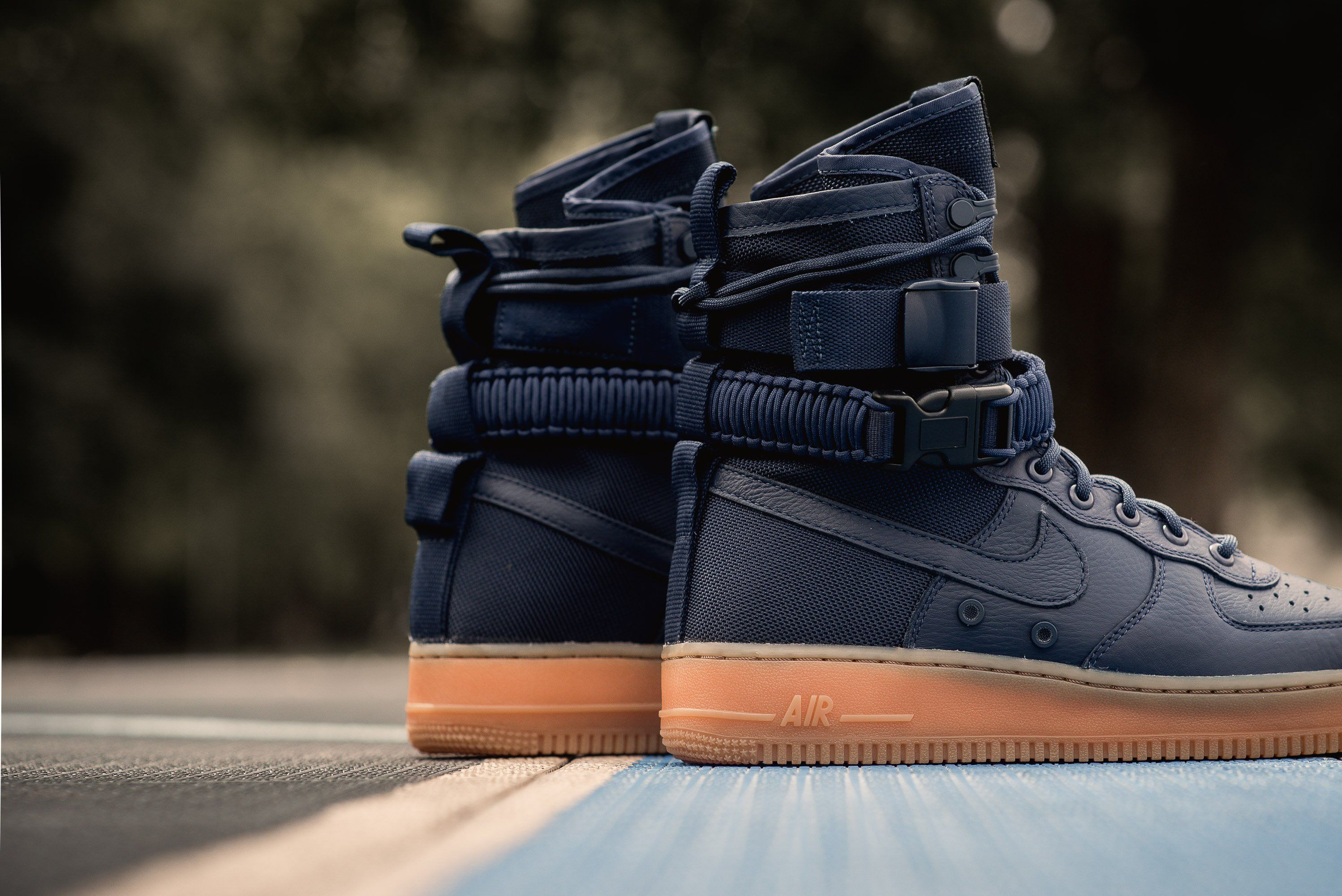 New Nike Air Force 1 Mid Navy University Blue