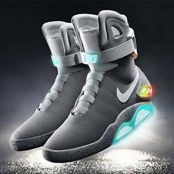 Self-lacing shoes-Nike invented a special pair of shoes that lace  themselves. Back To The FutureNike ...