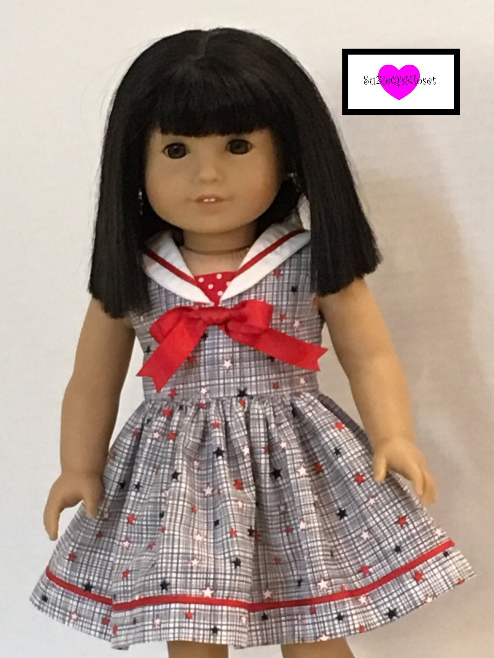 18 inch doll clothes Sailor dress in 4 different prints