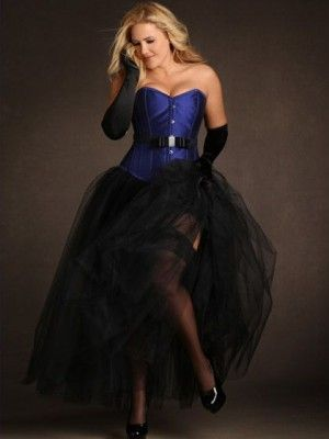 5 layer tulle petticoat  long petticoat plus size corset