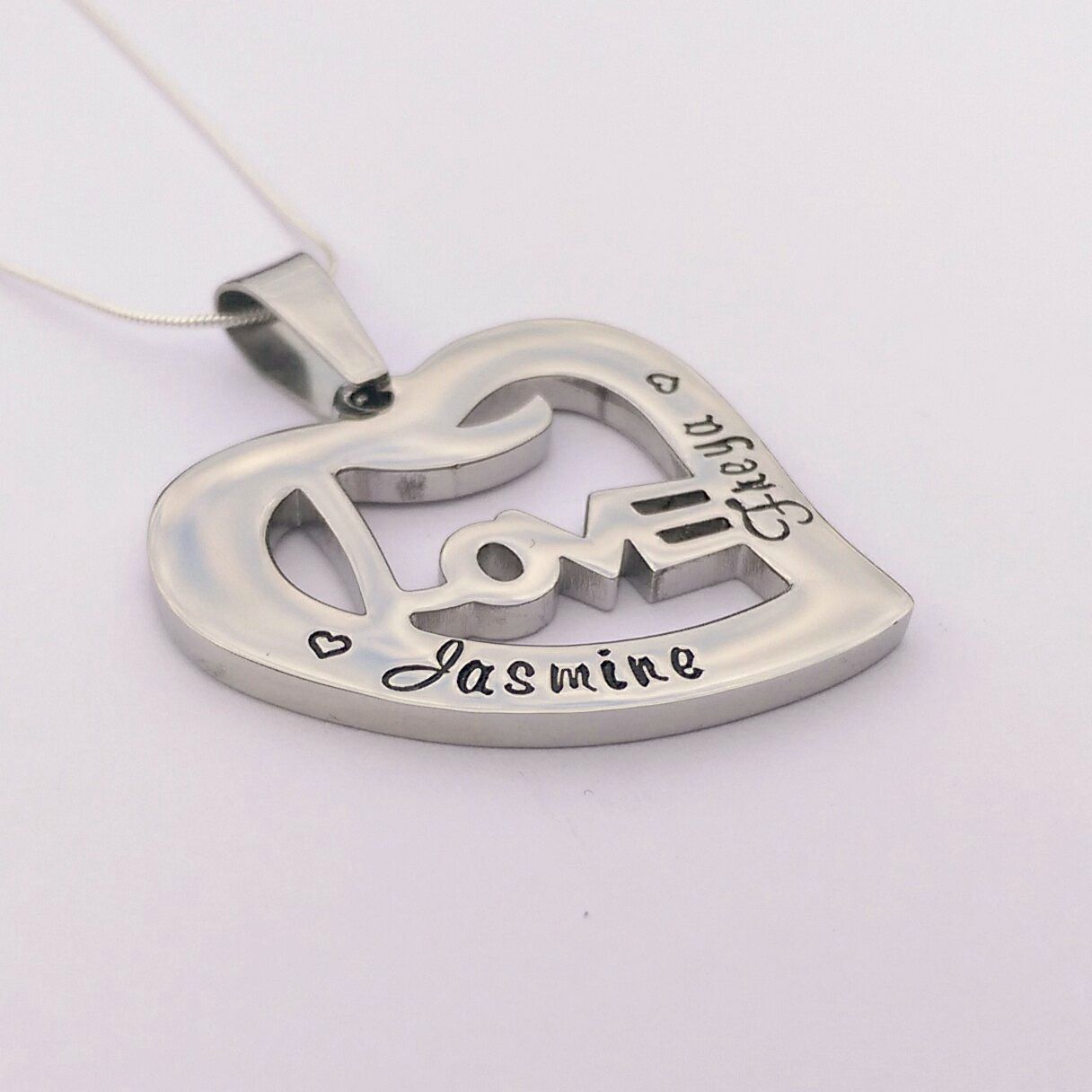 Personalised heart love necklace personalized heart necklace personalised heart love necklace personalized heart necklace name necklace heart pendant mum aloadofball Image collections