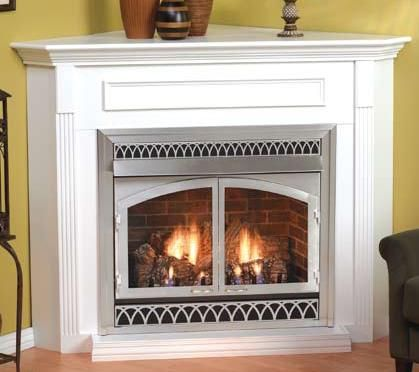 corner fireplaces corner fireplaces rt 150 pinterest cabin rh pinterest com corner vent free propane gas fireplace