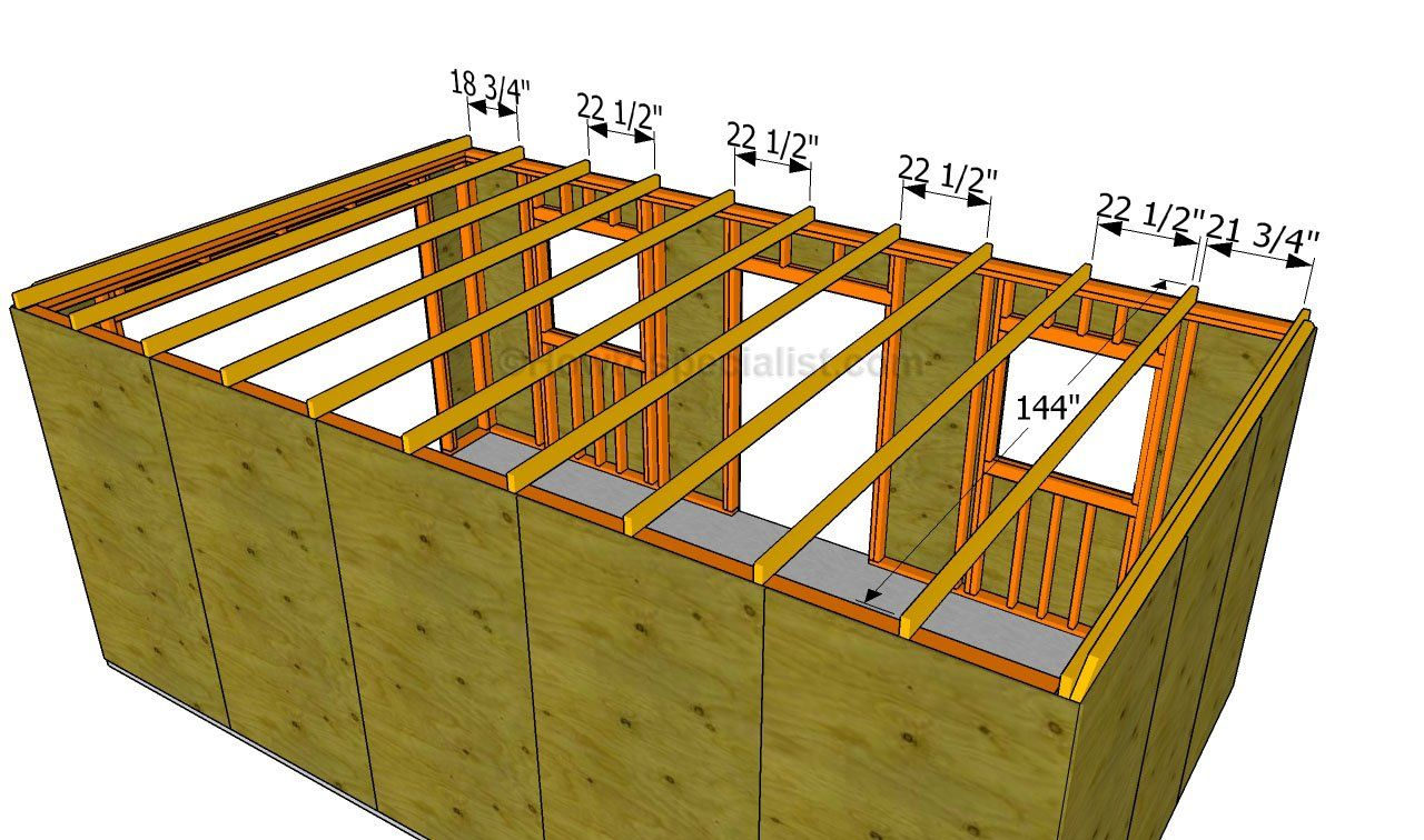 Good This Step By Step Diy Project Is About How To Build A Garage Roof. Building  A Roof For A Single Car Garage Is Easy, But There Are A Few Thing You  Should ...