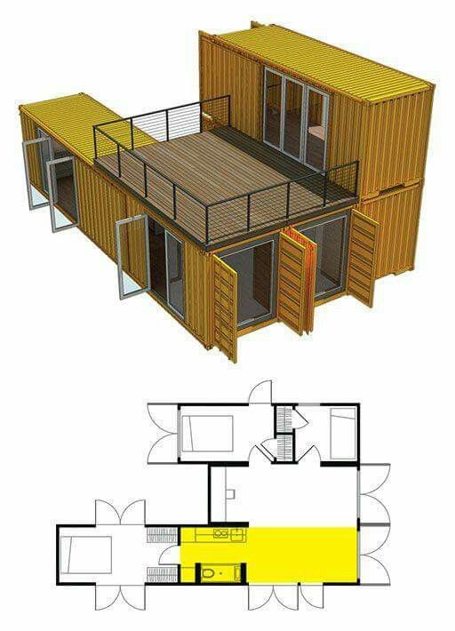 Container house design Container homes  pool Pinterest