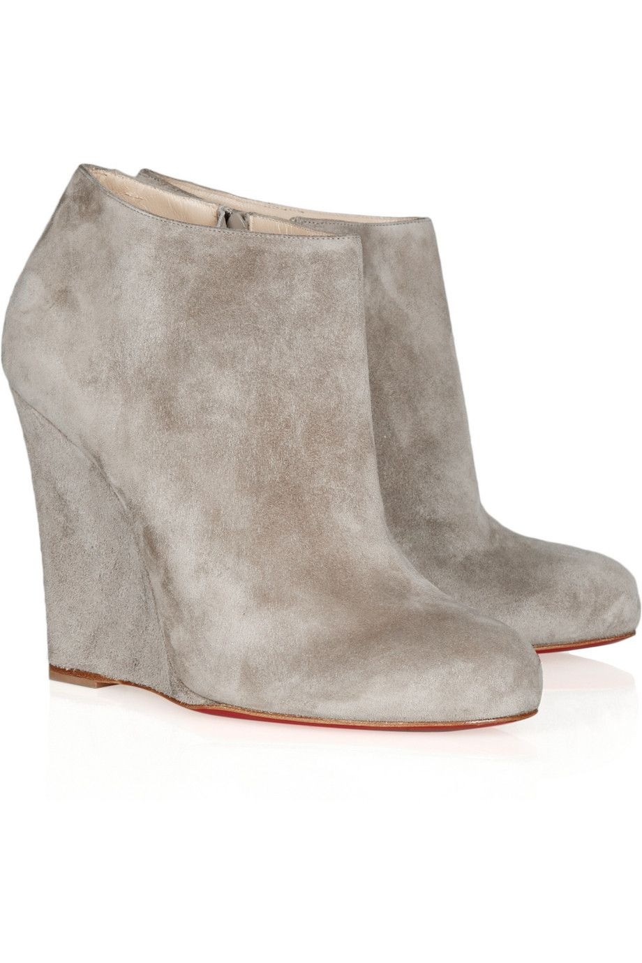 discount outlet locations Christian Louboutin Suede Wedge Booties sneakernews under $60 sale online buy cheap fashionable best prices online Qnow62crN