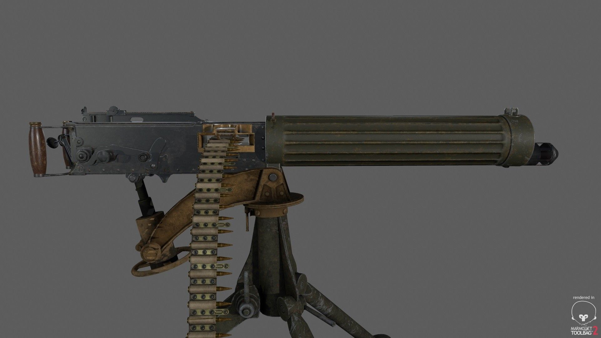 ArtStation - Vickers Machine Gun, John Eyre | Vickers Maxim | Guns