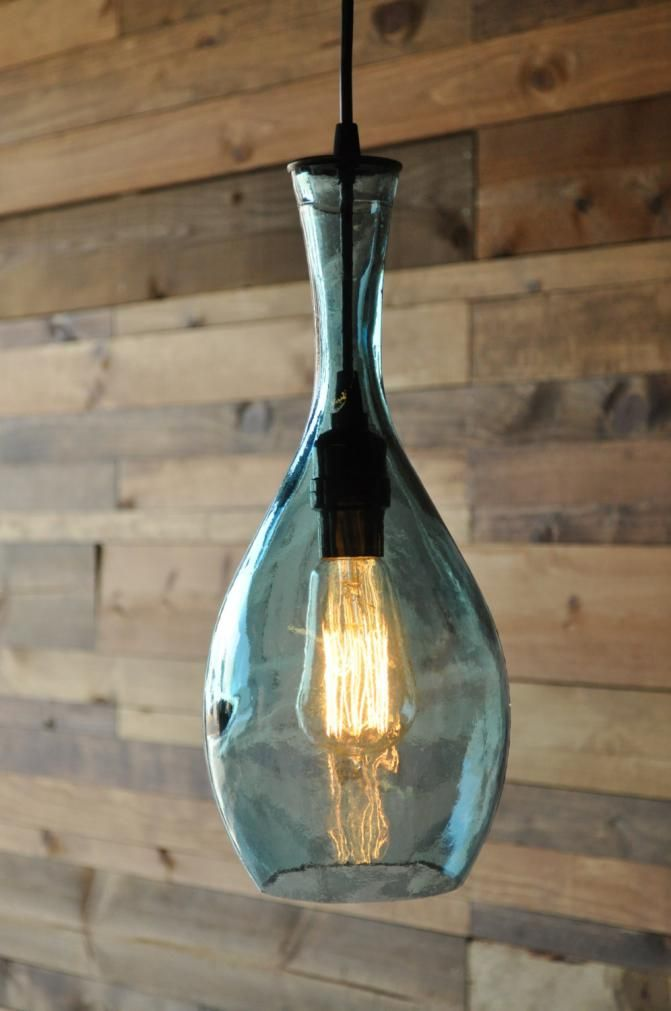 Glass Vase Hanging Pendant Lamp #Recycle #Upcycle # ...